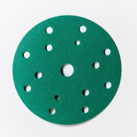 Kruhové brúsne výseky priemeru 150mm s 15 otvormi P80-P600