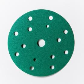 Kruhové brúsne výseky priemeru 150mm s 15 otvormi P800-P2000