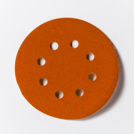 Kruhové brúsne výseky priemeru 125mm s 8 dierami